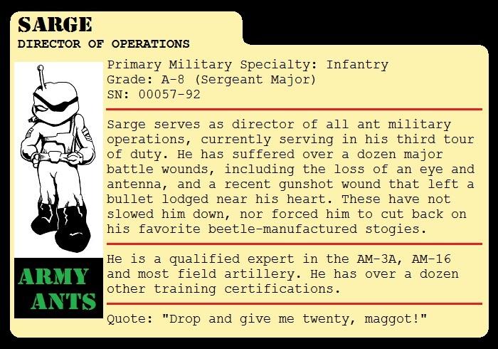 Sarge File Card